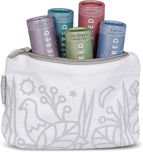 Scentered Ultimate Survival Aromatherapy Pulse Point Balm Gift Set - White