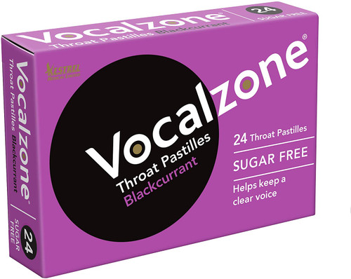 Vocalzone Soothe and Clear Throat Pastilles - Blackcurrant