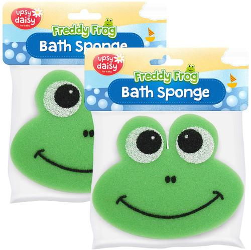 Freddy Frog Soft Bath Sponge Set for Babies Sensitive Skin - 2 Pack