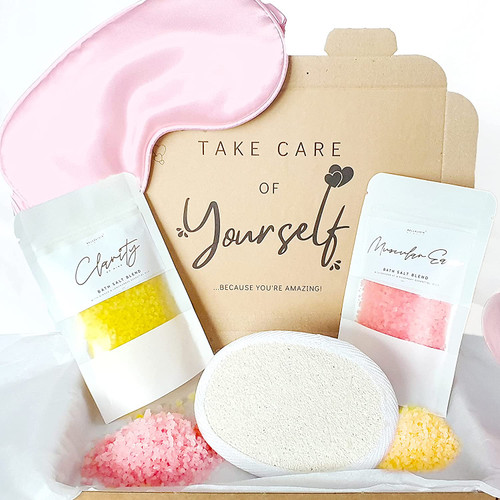 Bellalisia New Mum To Be Soothe and Calm Self Care Bath Salt Set