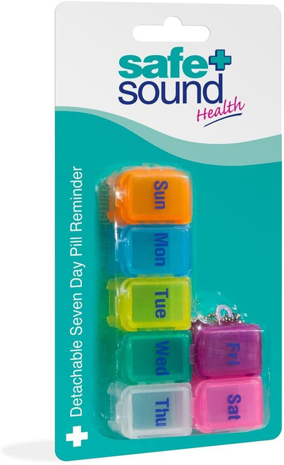 Safe and Sound Small 7 Day Pocket Size Detachable Pill Box