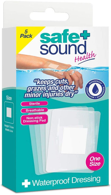 Safe and Sound Minor Injury Absorbent Wound Dressing - 5 Pack