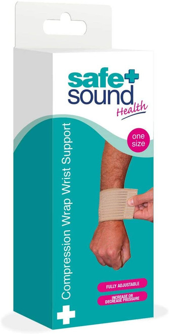 Safe and Sound Sports Injuries Compression Wrap Wrist Support