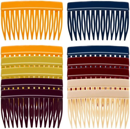 RC ROCHE ORNAMENT Medium Classic Multicolor Side Slide Comb-12Pcs