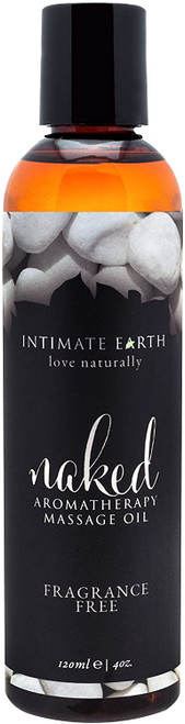 Intimate Earth Fragrance Free Naked Aromatherapy Massage Oil - 120 ml