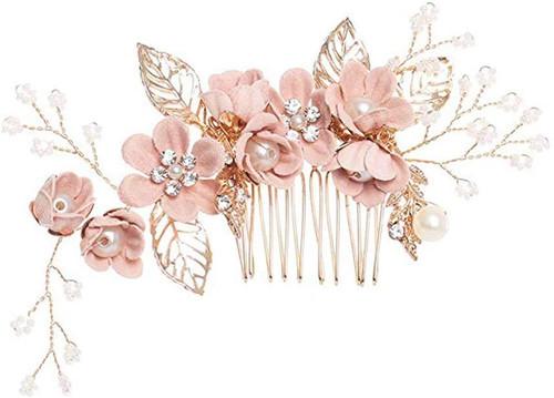 Hair Pins Bridal Handmade Flower Hair Comb