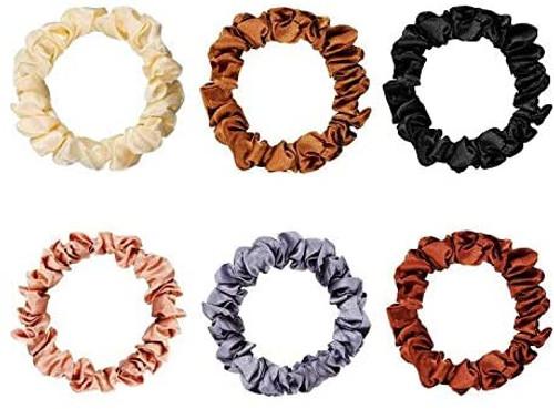 Satin Elastic Hair Bands-6PCS