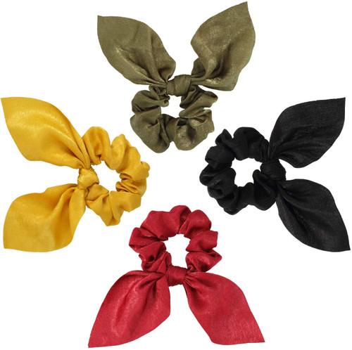Hair Elastics Scrunchies Chiffon Ponytail Holder-4 Pack