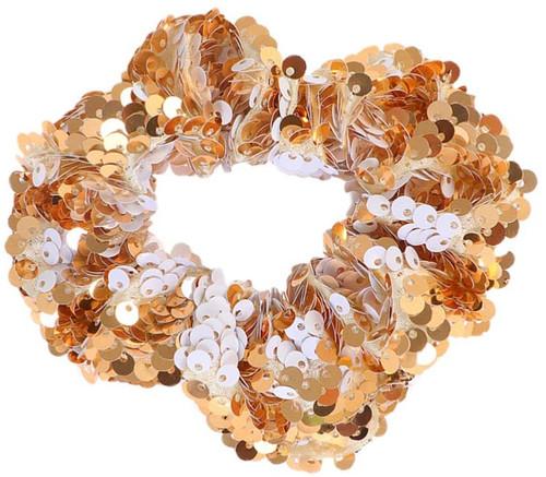 ABOOFAN Sequin Christmas Glitter Golden Hair Scrunchies