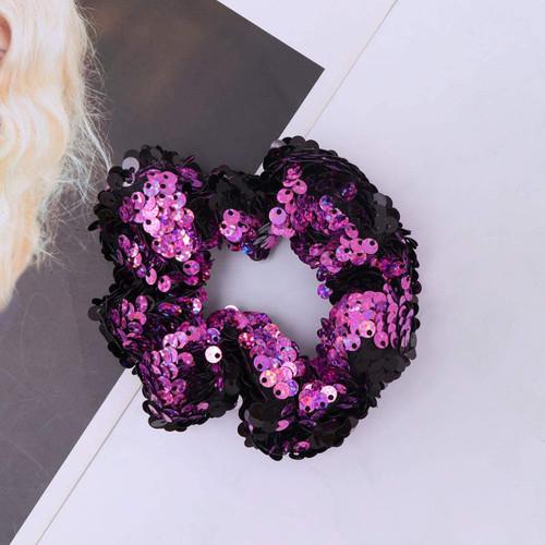ABOOFAN Sequin Christmas Glitter Rosy Hair Scrunchies