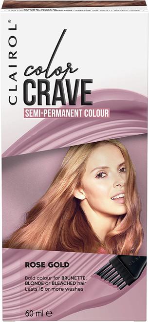 Clairol Colour Crave Semi Permanent Hair Dye-Rose Gold