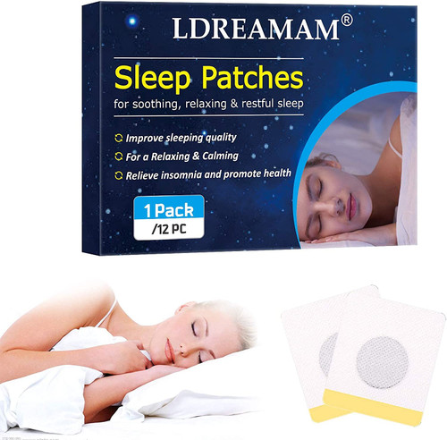 LDREAMAM Relaxing and Calming Deep Sleeping Foot Patches - 12Pcs