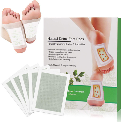 Aiooy Tension and Stress Relief Detox Foot Patches - 10 Pcs