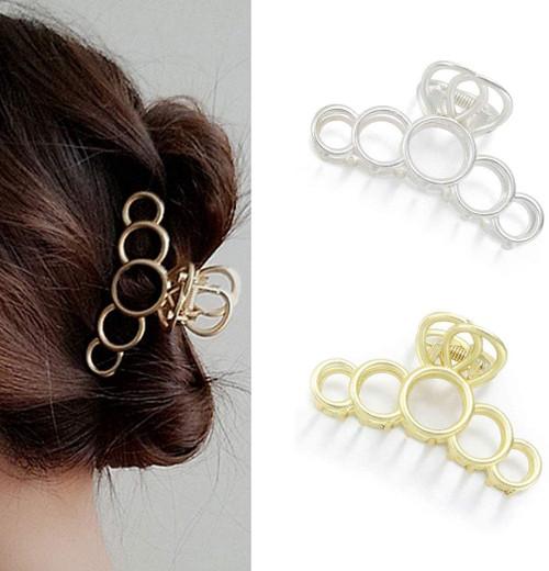 Hair Claw Clips Runmi Large Metal Hair Clips-2Pcs
