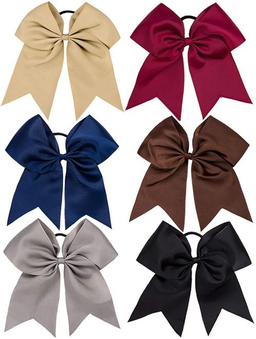 Whaline Hair Grosgrain Ribbon Cheer Bows-6 pack