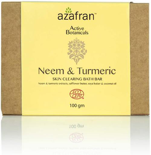 Azafran Turmeric and Neem Bath Soap Bar-100g