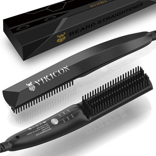 VIKICON Ultra Light Beard Brush Straightener for Styling Long & Short Beard