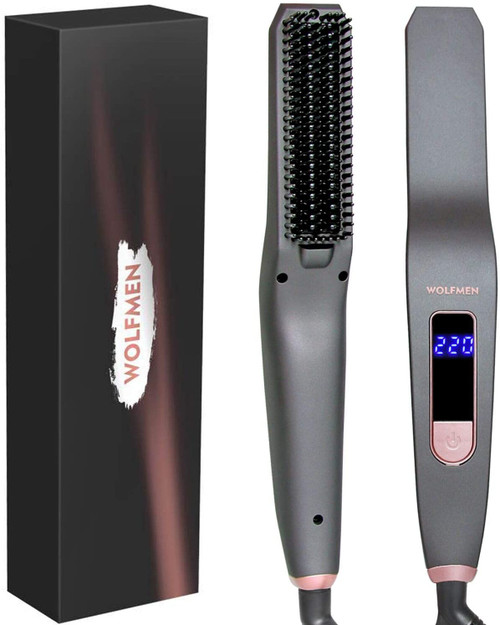 Wolfmen Beard Straightening and Styling Brush with 6 Temperatures