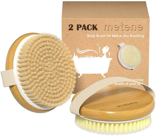 Metene Wet and Dry Body Dead Skin Scrubber Brush - 2 Pack