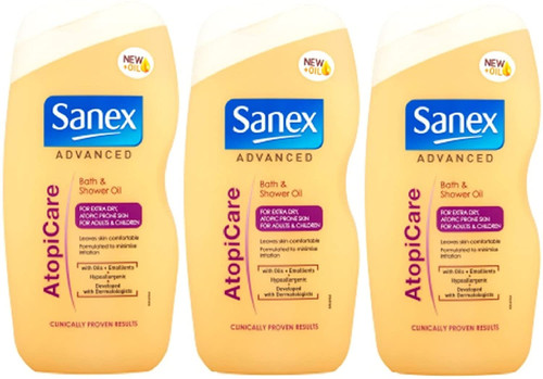 Sanex Advanced AtopiCare Bath & Shower Oil Pack of 3-500ml