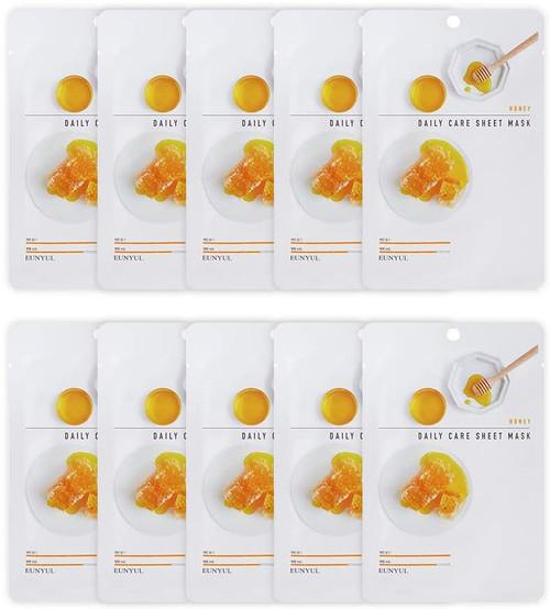 EUNYUL Korean Daily Skin Care Honey Facial Sheet Mask -10 Pcs