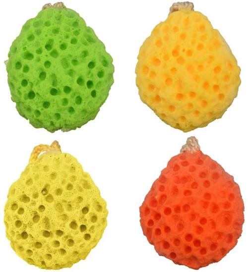 Bath Sponges Honeycomb Shower Loofahs-4 Pcs