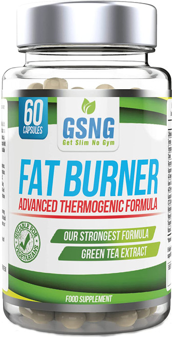 GSNG Fat Burner Thermogenic Pills with Green Tea Extract - 60 Capsules