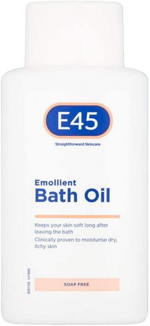E45 Dermatological Emollient Bath Oil-500 ml