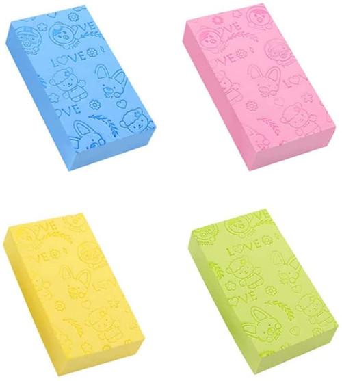 Soft Bath Sponge Exfoliating Shower Sponge Scrubbers-4Pcs