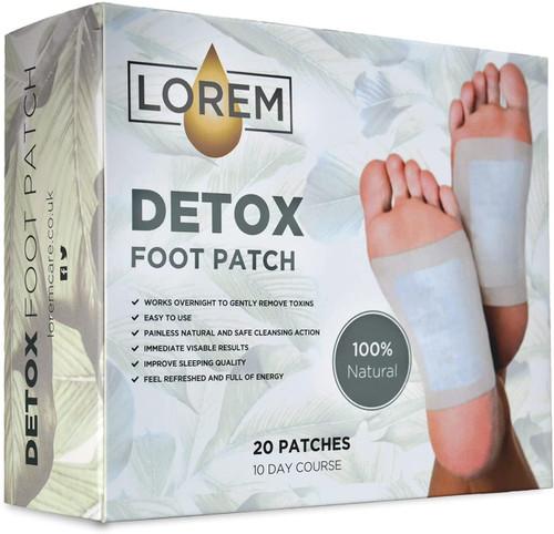 Lorem Painless Cleansing Action Detox Foot Patches - 20 Pcs