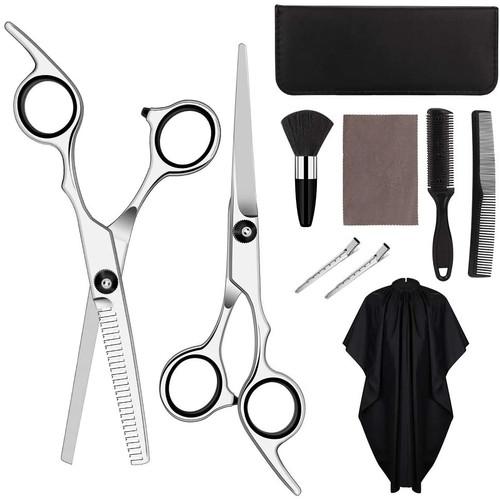 HALOVIE Hairdressers Scissors Set-Black