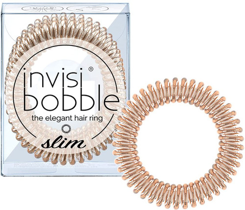 invisibobble Spiral Shape Slim Hair Ties Pack - Bronze Me Pretty