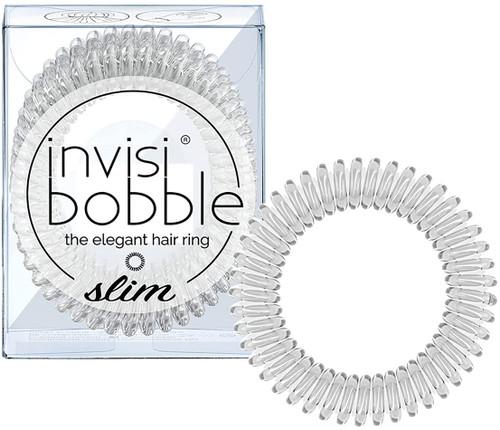 invisibobble Spiral Shape Slim Hair Ties Pack - Chrome Sweet Chrome