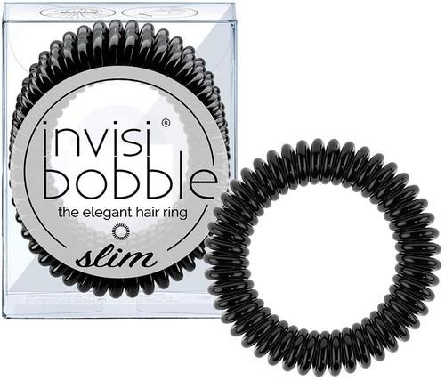 invisibobble Spiral Shape Slim Hair Ties Pack - True Black