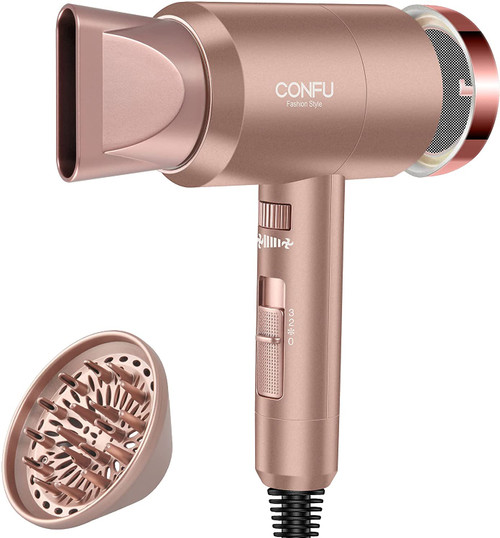 CONFU Styling Nozzle 1800W Ionic Hairdryer with Diffuser & Concentrator