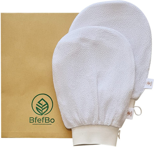 BfefBo Kessa Smooth Silky Glowy Skin Exfoliating Mitt - 2 Pack