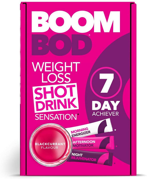 Boombod Quick Weight Loss Tasty Shot Diet Drink - Blackcurrant
