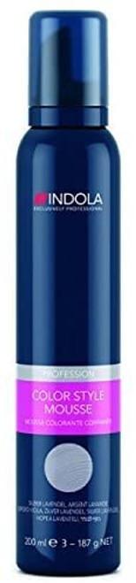 Indola Color Style Mousse Permanent Hair Dye-Silver Lavender