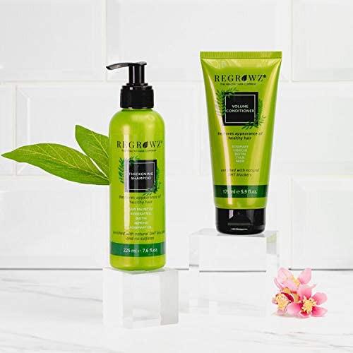 Regrowz Thickening Shampoo and Volume Conditioner Set