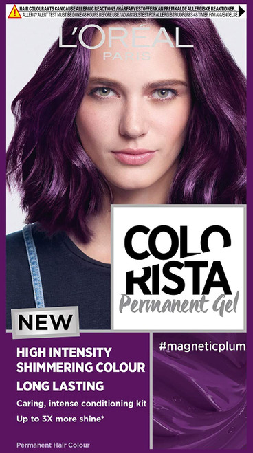 LOreal Paris Colorista Permanent Gel Hair Dye-Magnetic Plum