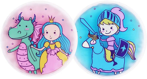 Hilph Kids Soft Plush Pain Soothing Ice Pack Set - Prince- Princess