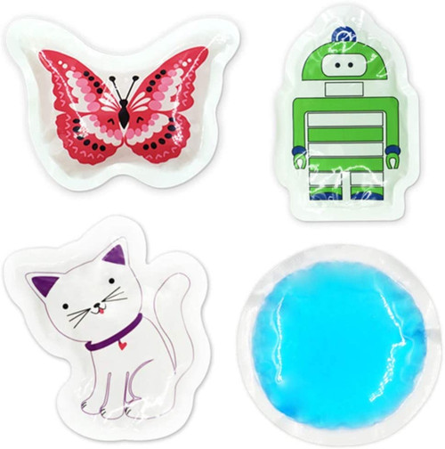 World Bio Small Joints and Headache Relief Kids Patterned Ice Packs - 4 Packs