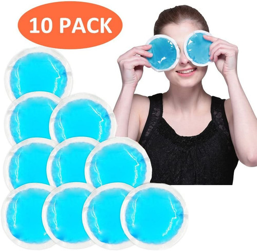 World Bio Small Joints and Headache Relief Kids Round Ice Packs - 10 Packs