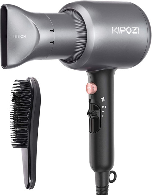 KIPOZI 2200W Glossy Hair Ionic Dryer with Concentrator and Comb