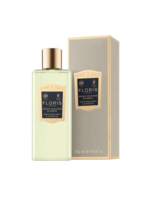 Floris Night  Moisturising Scented Jasmine Bath and Shower Gel-250ml