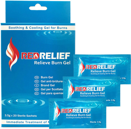RedRelief Immediate Burn Relief Gel Sachets - 20 Sachets