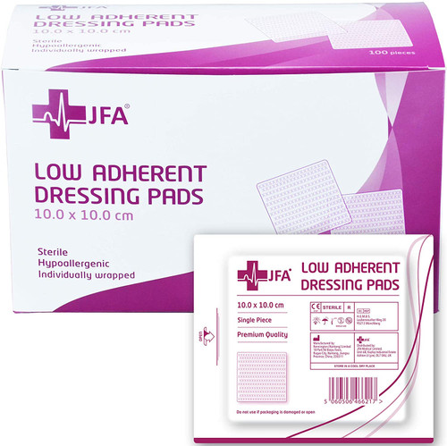 JFA Highly Absorbent Hypoallergenic Wound Dressing Pad - Pack of 100