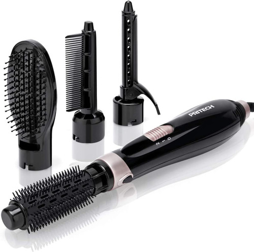 Pritech 4 in 1 Multi Functional Hot Air Dryer Brush for Hair Styling - Black
