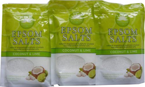 Elysium Spa Coconut & Lime Epsom Salts-450g