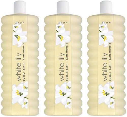 Avon Bubble Bath White Lily-3x500ml